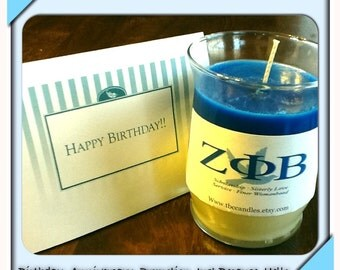 10oz Customized Candle with Greeting Card