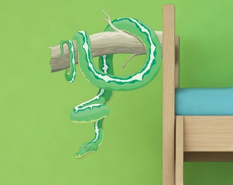 Reptile - Snake on a tree Vinyl Wall Decal by WallJems Wall Decals