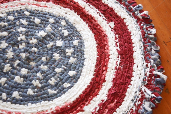 red white and blue americana american area rug patriotic. Black Bedroom Furniture Sets. Home Design Ideas