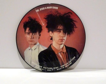Jesus and Mary Chain Vinyl JAMC Picture Disc Album Interview Jim William Reid Import Record Ltd Edition 80s Alternative New Wave Rock Band