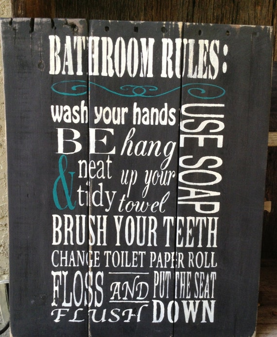 Unavailable listing on etsy for Rules of good bathroom design