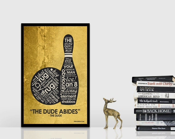 The Big Lebowski Inspired Quote Poster By OutNerdMe On Etsy