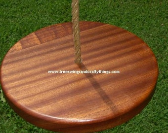 Sapele Disc Tree Swing