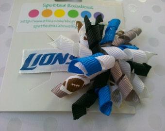 Detroit Lions Korker Hairbow
