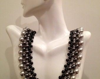 Swarovski graduated pearl collar necklace