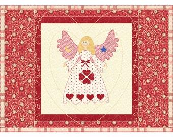 Valentine Placemats Folk Art Angel