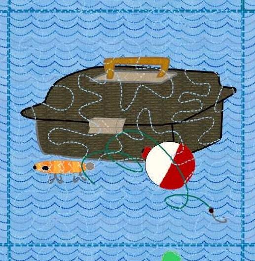 Baby Boys Quilt Pattern Little Boys Fishing Go