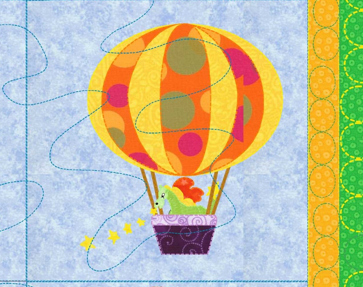 Baby Quilt Pattern Hot Air Balloon Up Up And Away
