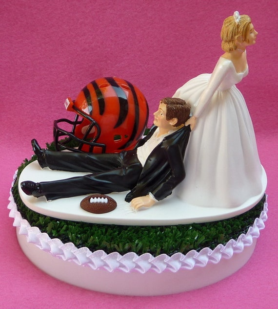 Wedding Cake Topper Cincinnati Bengals Football Themed Sports