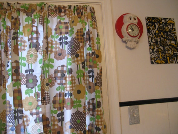 ... Curtains by Fashion Manor for JC Penney / 6 Panels and Valance / 40x44