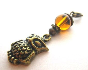 OWL - charm pendant in the vintage style
