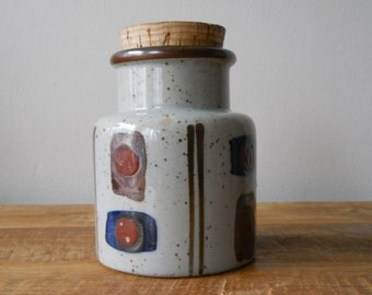 Vintage Ceramic Jar With Cork Lid