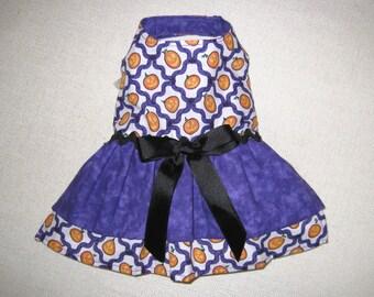 CLEARANCE SALE - Halloween Dog Dress, Little Dog Dress, Tiny Dog Dress, Halloween Pet Costume, Chihuahua. Maltese, Yorkie