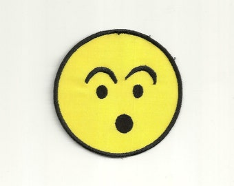 Surprised Smiley Face Patch! Custom Made!