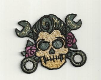 Rockabilly Sugar Skull Patch! Custom Made!