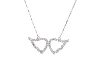 CZ Wings Necklace