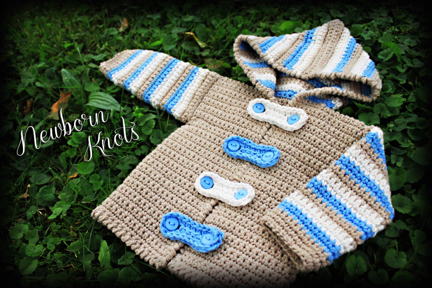 Crochet pattern for baby boy or girl striped hoodie sweater crochet pattern for baby boy or girl striped hoodie sweatercardigan pattern number 027 instant download bankloansurffo Choice Image