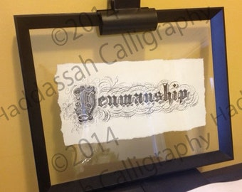 "Custom Calligraphy ""Penmanship""  Vintage Inspired"