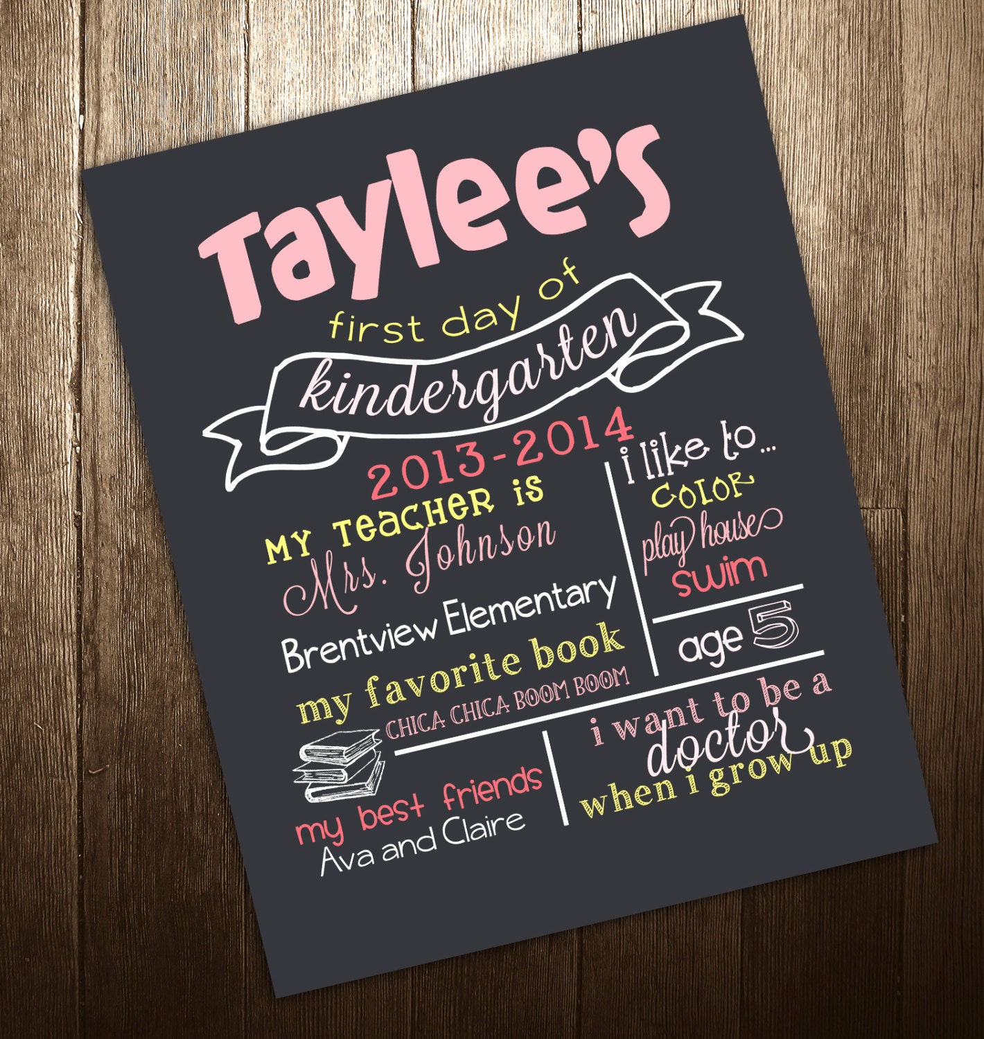 first day of school sign template - first or last day of school chalkboard poster sign printable