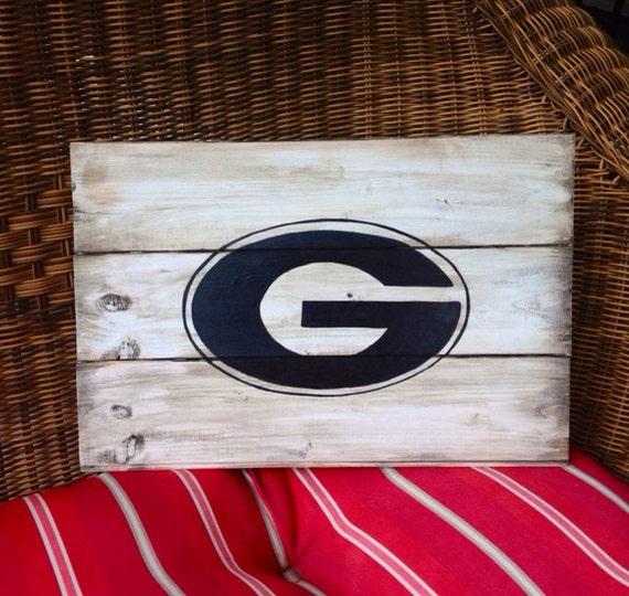 Georgia Bulldog Mini Pallet Sign