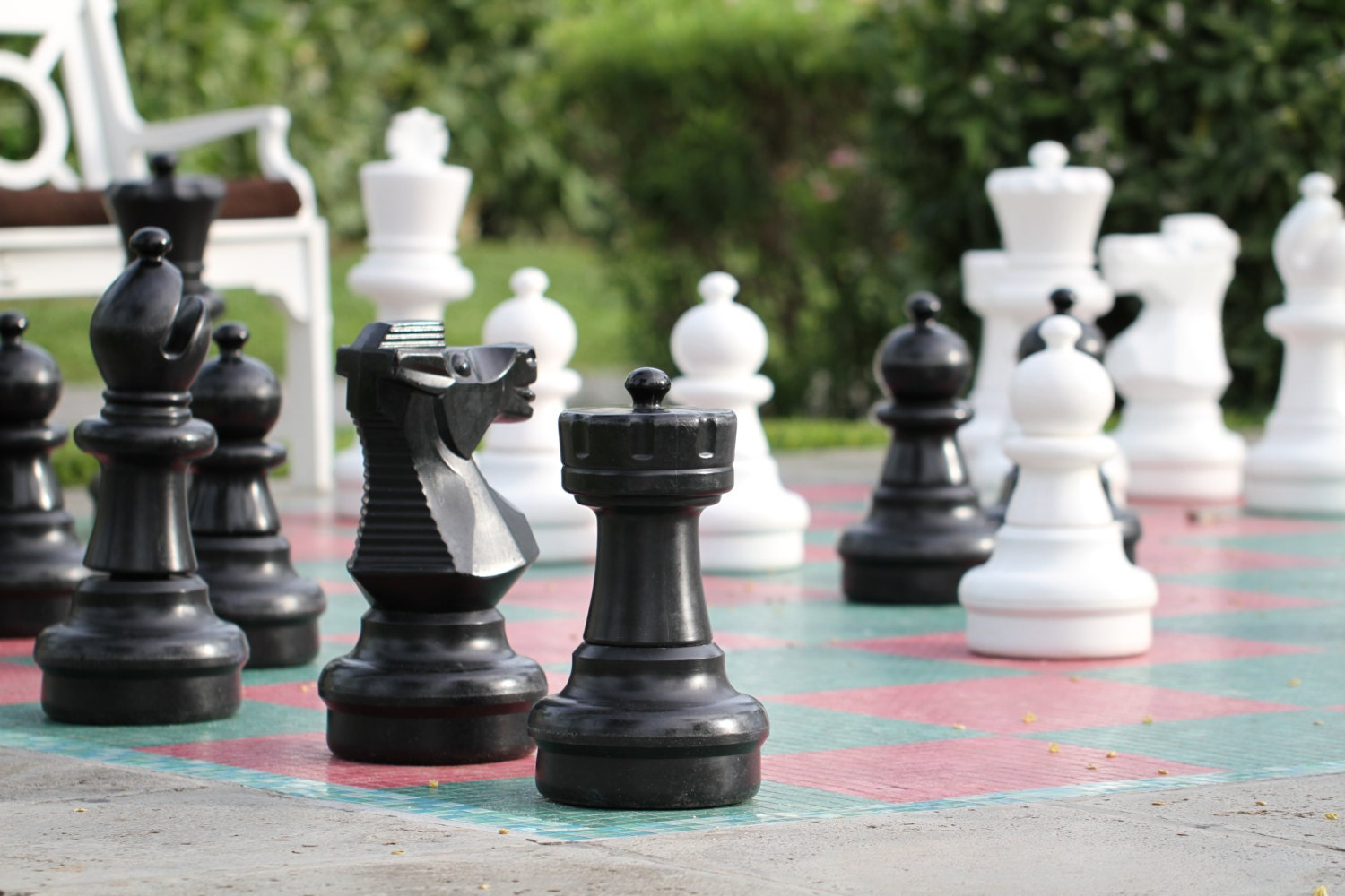 life size chess board and pieces by brunkphotography on etsy