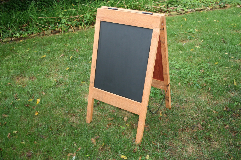 solid oak sandwich board sidewalk sign by graydogwoodworks on etsy. Black Bedroom Furniture Sets. Home Design Ideas