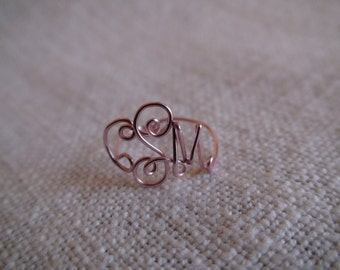 Monogram Wire Ring