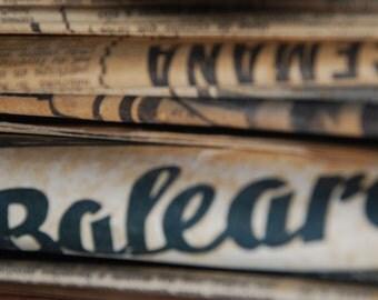 8 Vintage newspaper pages - Large - Ephemera - Scrapbook, altered art, collage, decoupage, envelopes...