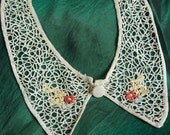 Vintage Collar Tatting with embroidered detail