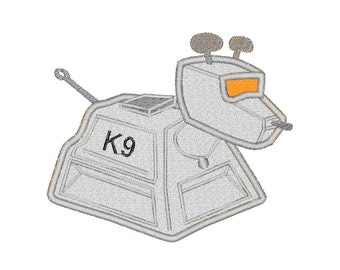 Buy3Get1 FREE - Machine Embroidery Doctor Who K9 Applique, Doctor Who Robot Dog - INSTANT DOWNLOAD