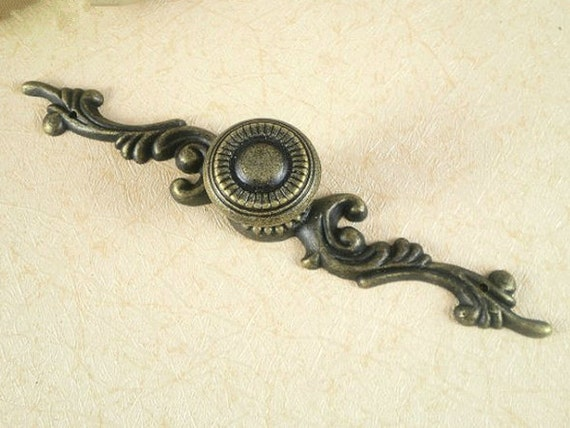 Rustic Dresser Drawer Knobs Pulls Backplate Antique Bronze