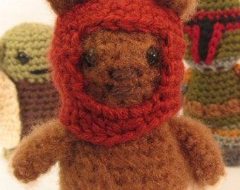 Crochet Ewok Amigurumi, Character, Sci-Fi, Doll, Plush, Handmade, Figurine