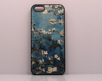 Iphone 7 plus  Case  iphone 4 4s 5s 5c 6 Van Gogh  Blue flower blossoms mobile cell phone cover snap