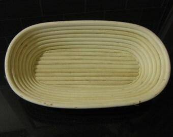 Handmade Large Oval Bread Proving Basket / Banneton