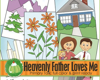 Heavenly Father Loves Me Primary Talk - Downloadable File