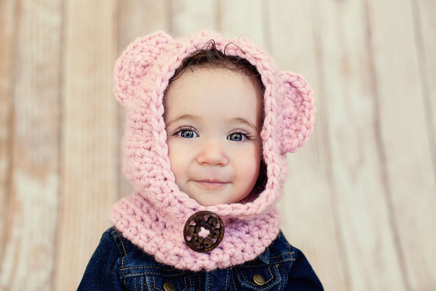 Crochet Baby Bear Cowl Pattern : Crochet Cowl Crochet Bear Cowl Toddler Hat by ...