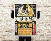 Marihuana (1936, USA) Propaganda canvas - paper Poster