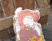 Cabbage Patch Kid/Cabbage Patch Pillow/Vintage Cabbage Patch Girl/Stuffed Cabbage Patch Kid/Kid's Pillow/1980's Pillow