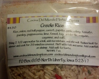 5 pouches of Creole Rice Mix