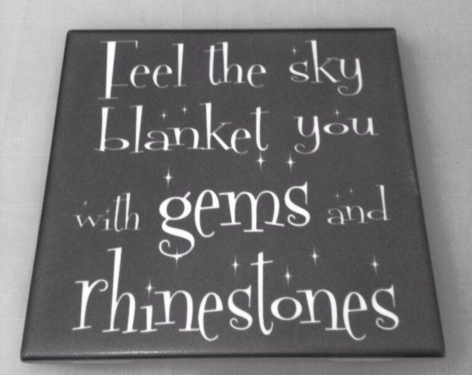 "Gems and Rhinestones Glow or Satin Shine 6"" x 6"" Tile"
