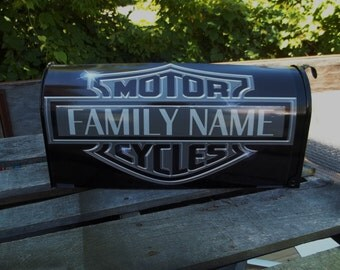 Painted and or other mixed media Personalized Mailbox