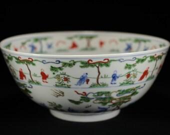 Handpainted Asian Decorative Porcelain Bowl