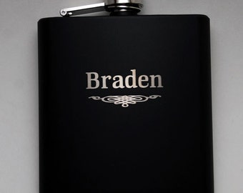 Add on Flask Wedding party favors, Custom engraved 6oz flask., flask, personalized flask,