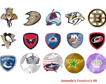 Random NHL  bottle cap images Sheets