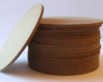 "Round pressed rubber blank ""Coasters""- Qty- 50"