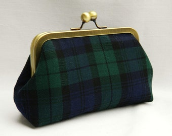 Clutch Purse, Tartan Plaid Clutch Purse, Framed Clutch Purse