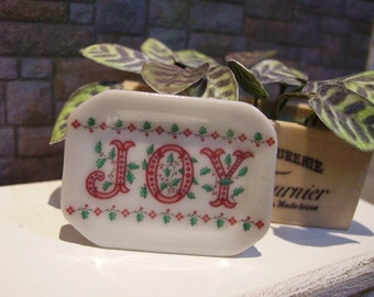 Joy Miniature plate for Dollhouse 1:12 scale