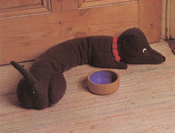 Dachshund Draft Stopper Knitting Pattern The Knitting