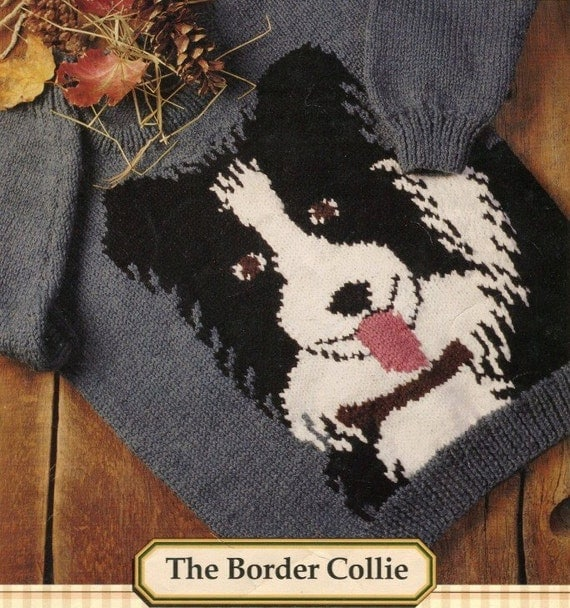 Knitting Pattern For Border Collie : THE BORDER COLLIE Knitting Pattern Family Sizing 2 44