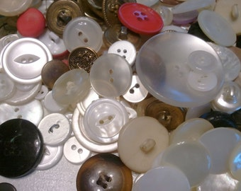 Vintage, Buttons, Large Assortment, Notions, Sewing, Crafting